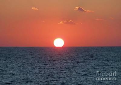 Sunset At Sea Art Print by Marilyn West