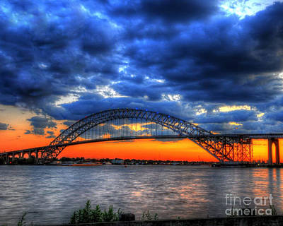 Thomas Kinkade - Sunset at the Bayonne Bridge by Paul Ward