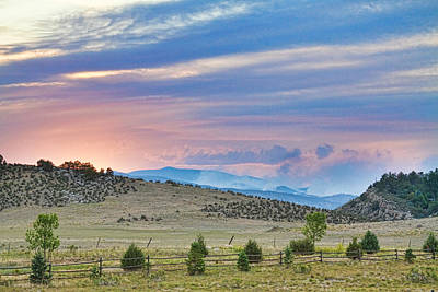 Larimer County Photograph - Sunset At The Colorado High Park Wildfire  by James BO  Insogna