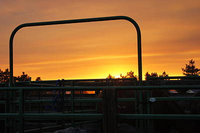 Photograph - Sunset At The Corral by Angi Parks
