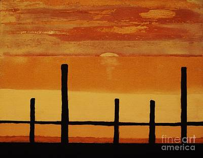 Sunset At The Dock Of The Bay Print by Marsha Heiken