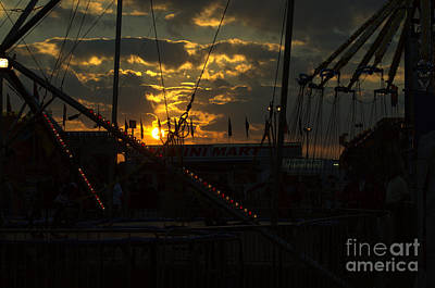Photograph - Sunset At The Georgia State Fair by Donna Brown