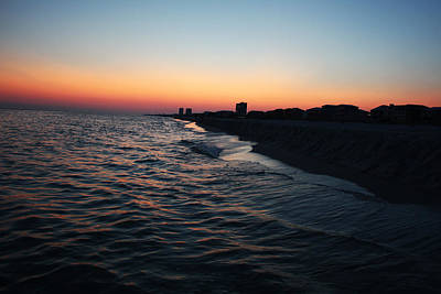 Sunset At The Gulf Shores Art Print