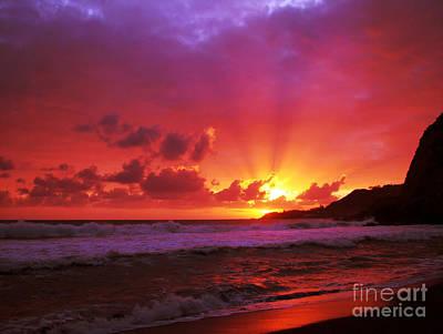 Sunset At The Island Art Print