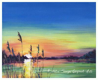 Painting - Sunset At The Lake by Natasha Denger