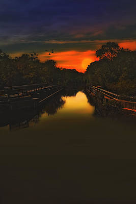 Sunset At The Old Canal Art Print by Tom York Images