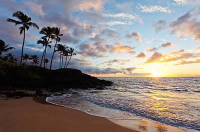 Sunset At Ulua Beach Art Print