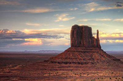Photograph - Sunset At West Mitten Butte by Saija  Lehtonen