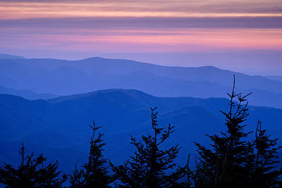 Blue Ridge Mountain Photograph - Sunset Atop The Eastern U.s. by Andrew Soundarajan