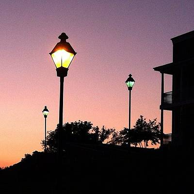 Wallpaper Wall Art - Photograph - #sunset #balcony #nature #sky #lamp by Monti The Lone Wanderer