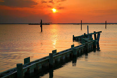 Sunset Bay II Art Print by Steven Ainsworth
