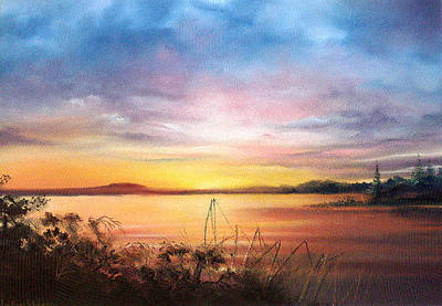 Painting - Sunset Bay by Jan Farthing