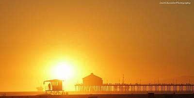 Life Gaurd Photograph - Sunset Beach by Carl Schroeder III