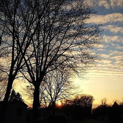 Iphone 4s Photograph - #sunset #beautiful #sky #trees by Brandon Bailey