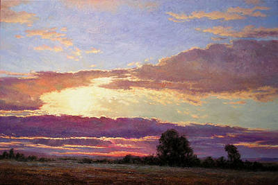 Bozeman Painting - Sunset Blue by Pat Mahan