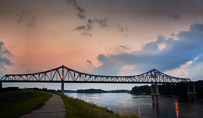 Photograph - Sunset Bridge by Al  Mueller