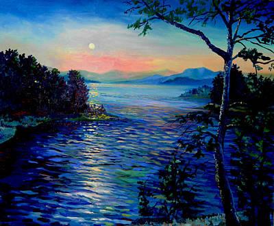 Sunset Broken Bow Original by Steven Linebaugh