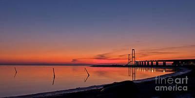 Sunset By Bridge Art Print