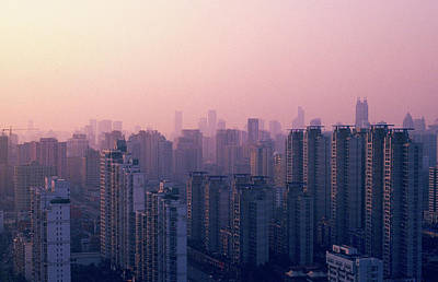 Sunset City Pink Art Print by Min Wei Photography