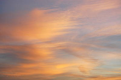 Photograph - Sunset Cloud Brushstrokes by Mary McAvoy