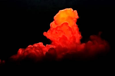 Fire Photograph - Sunset Cloud by Lisa Stanley