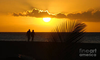 Photograph - Sunset Couple by Camilla Brattemark