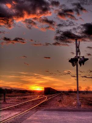 Photograph - Sunset Crossing by HW Kateley