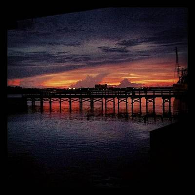 Summer Wall Art - Photograph - #sunset #dock #awesome #doubletap by Mandy Shupp