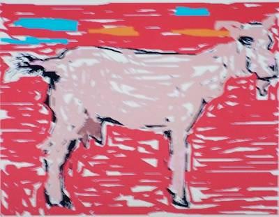 Sunset Goat Art Print by Jay Manne-Crusoe
