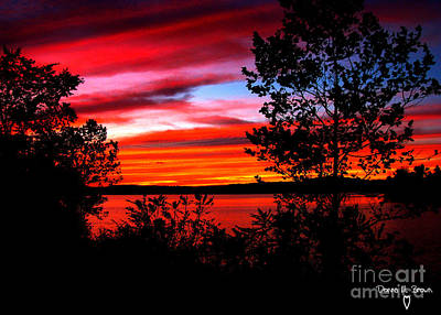 Photograph - Sunset I Will Never Forget by Donna Brown