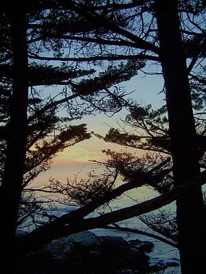Sunset In Carmel Art Print by Christine Drake
