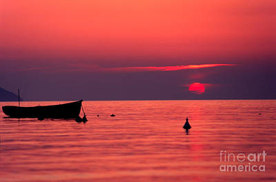 Art Print featuring the photograph Sunset In Elba Island by Luciano Mortula
