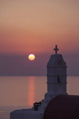 Mykonos Photograph - sunset in Greece by Joana Kruse