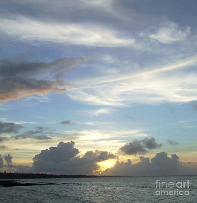 Sunset In Majuro Art Print by Andrea Anderegg
