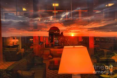 Photograph - Sunset In Mckeever Lobby by Adam Jewell