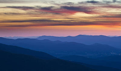 Sunset In Shenandoah National Park Art Print by Pierre Leclerc Photography