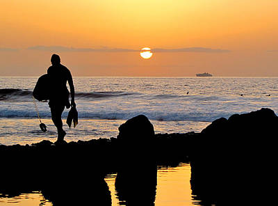 Photograph - Sunset In Tenerife by Barbara Walsh