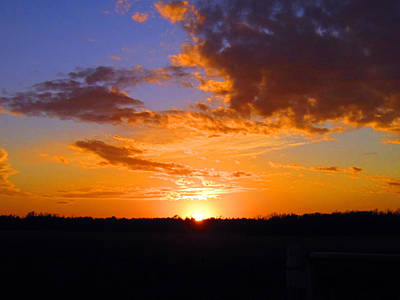 Photograph - Sunset In Wayne County by Lisa Stanley