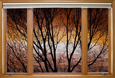 Colorful Art Photograph - Sunset Into The Night Window View 2 by James BO  Insogna