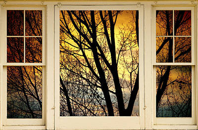 Photograph - Sunset Into The Night Window View by James BO Insogna