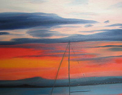 Sunset Art Print by Iris Nazario Dziadul