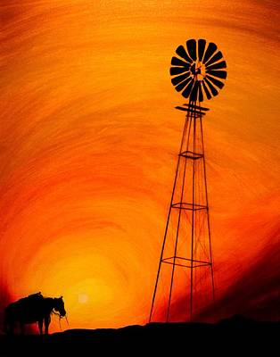 Sunset Art Print by J Vincent Scarpace