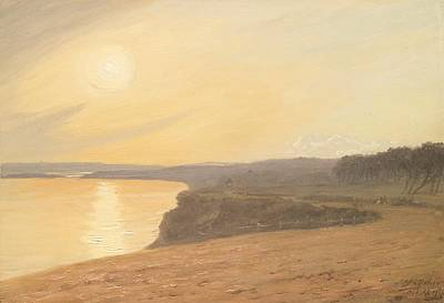At Peace Painting - Sunset by James Hallyar