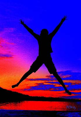 Art Print featuring the photograph Sunset Jubilation by Patrick Witz