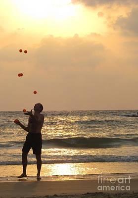 Sunset Juggling Art Print by Stav Stavit Zagron