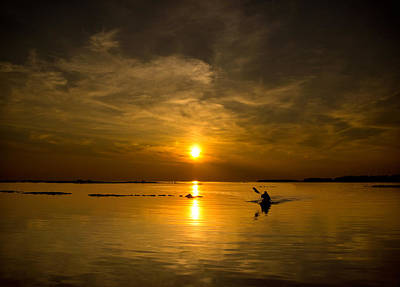 Kayaker Photograph - Sunset Kayak by Cale Best