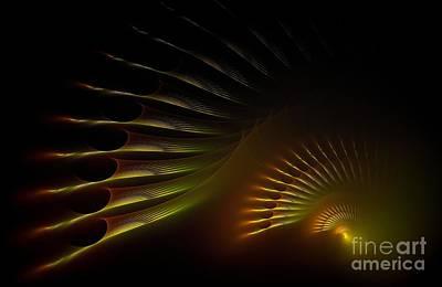 Abstract Design Digital Art - Sunset by Klara Acel