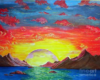 Painting - Sunset by Kostas Dendrinos