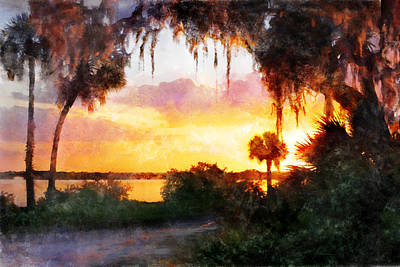Digital Art - Sunset Lane by Francesa Miller