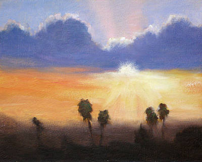 Sunset Art Print by Lori Quarton